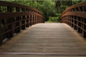 De houten brug